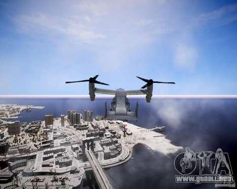 Osprey MV-22 para GTA 4 vista hacia atrás