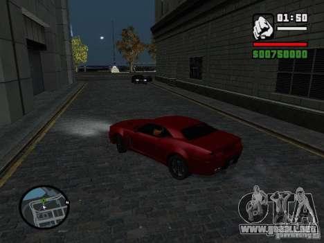 NFS Undercover Coupe para GTA San Andreas vista posterior izquierda