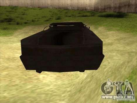 Real Ghostcar para GTA San Andreas vista posterior izquierda