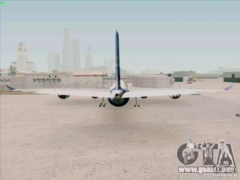 Airbus A-340-600 para GTA San Andreas vista posterior izquierda