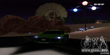 Audi R8 Light Tuned Version para la visión correcta GTA San Andreas