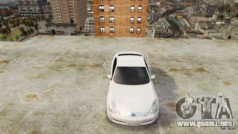 Infiniti G35 para GTA 4 visión correcta
