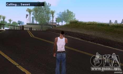 Call for Homies V2.0 para GTA San Andreas segunda pantalla