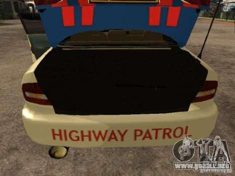 Mitsubishi Galant Police Indanesia para GTA San Andreas vista hacia atrás