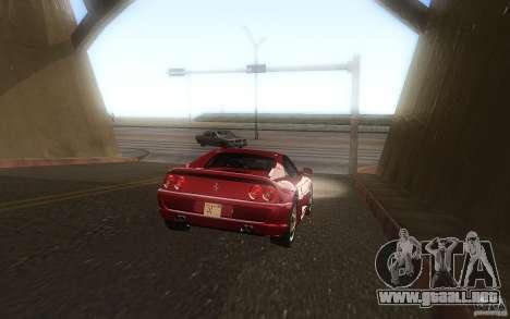 Ferrari F355 1994 para GTA San Andreas vista posterior izquierda