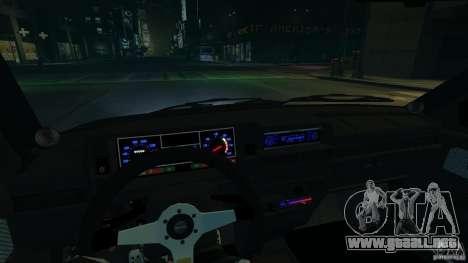 VAZ 2109 luz tuning para GTA 4 vista interior
