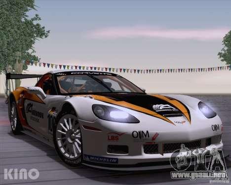 Chevrolet Corvette C6 Z06R GT3 v1.0.1 para visión interna GTA San Andreas