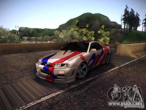 Nissan Skyline full tune para GTA San Andreas left