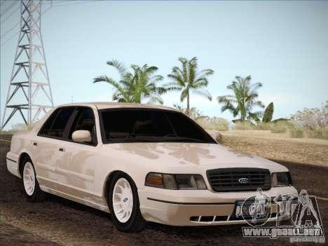 Ford Crown Victoria Interceptor para GTA San Andreas vista hacia atrás