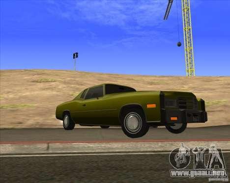 HD Esperanto para GTA San Andreas vista hacia atrás
