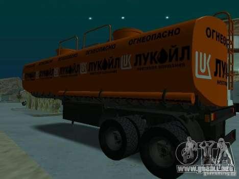 Tanque Lukoil para GTA San Andreas vista posterior izquierda