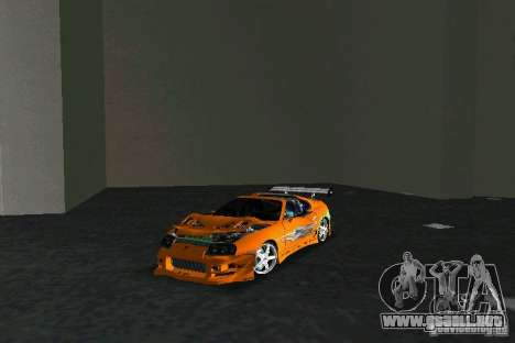Toyota Supra Fast and the Furious para GTA Vice City vista posterior