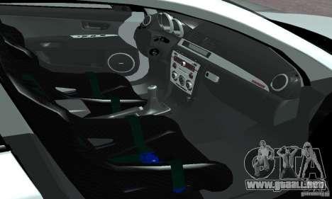 Mazda Speed 3 para GTA San Andreas vista hacia atrás