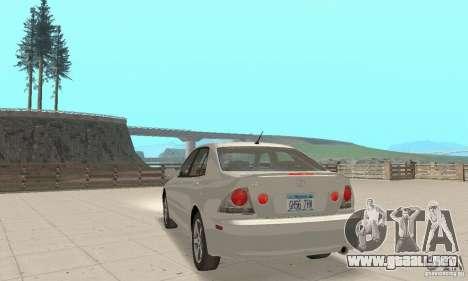 Lexus IS300 Stock para GTA San Andreas left