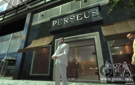 Gran traje gris y blanco para GTA 4 adelante de pantalla