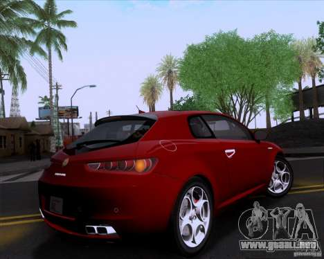 Alfa Romeo Brera para GTA San Andreas vista posterior izquierda