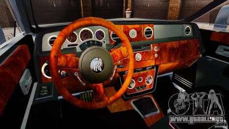 Rolls-Royce Ghost 2012 para GTA 4 vista hacia atrás