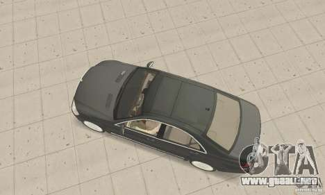 Mercedes-Benz S500 (w221) 2006 para GTA San Andreas vista posterior izquierda