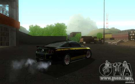Ford Mustang GT V6 2011 para la visión correcta GTA San Andreas