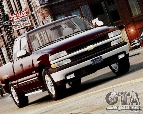 Chevrolet Silverado 1500 2000 para GTA 4 Vista posterior izquierda
