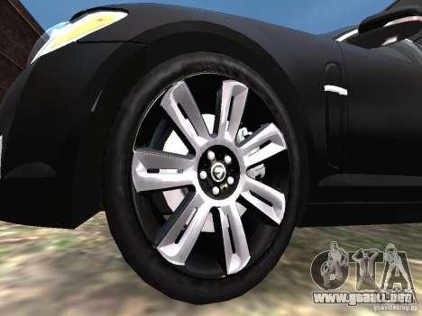Jaguar XFR para GTA 4 vista desde abajo