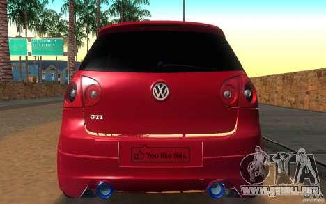 VolksWagen Golf GTI MK5 para la visión correcta GTA San Andreas