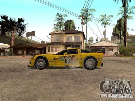 Chevrolet Corvette C6-R para GTA San Andreas left