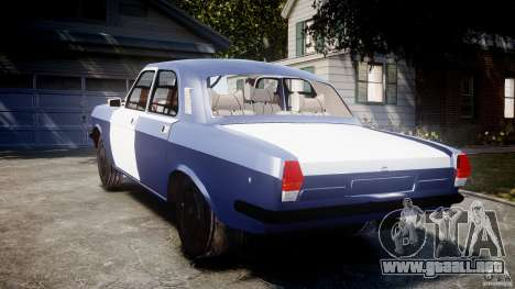 Volga GAZ-2410 1989 v2.1 para GTA 4 Vista posterior izquierda