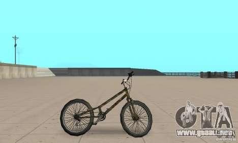 Trial bike para GTA San Andreas vista posterior izquierda