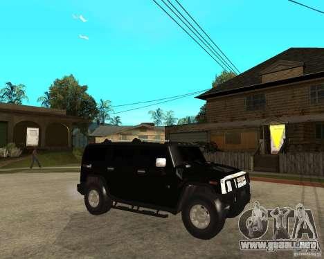 AMG H2 HUMMER SUV FBI para la visión correcta GTA San Andreas