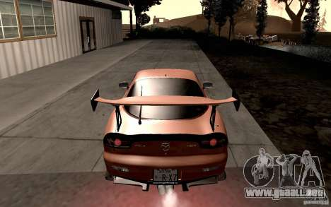 Mazda RX-7 Hellalush para la visión correcta GTA San Andreas