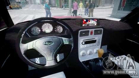Subaru Forester v2.0 para GTA 4 vista hacia atrás