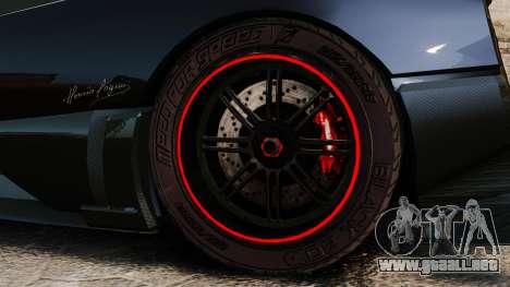 Pagani Zonda Cinque 2009 para GTA 4 vista hacia atrás