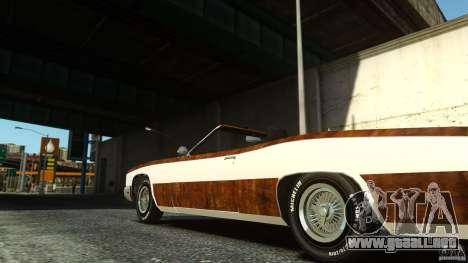 Buccaneer Final para GTA 4 Vista posterior izquierda