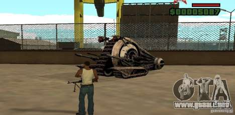 Alliance Tank Droid para GTA San Andreas left