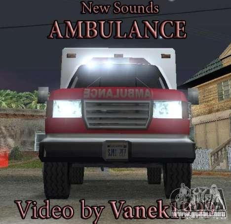 Nueva señal de emergencia para GTA San Andreas