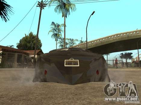 Thunderbold SlapJack para vista inferior GTA San Andreas