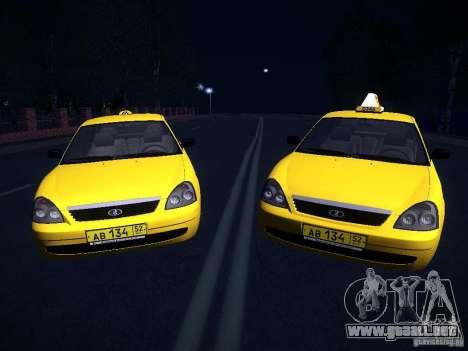LADA Priora 2170 Taxi TMK Afterburner para la visión correcta GTA San Andreas
