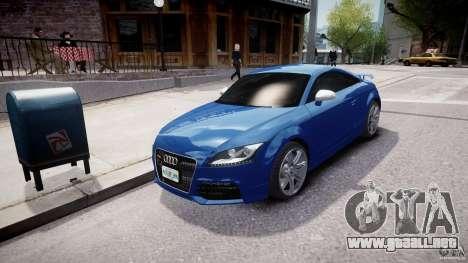 Audi TT RS Coupe v1 para GTA 4 vista hacia atrás