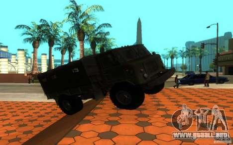 GAZ 66 para GTA San Andreas vista posterior izquierda