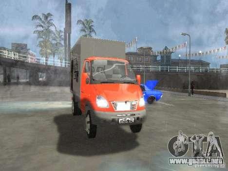Gacela 33022 para GTA San Andreas vista posterior izquierda
