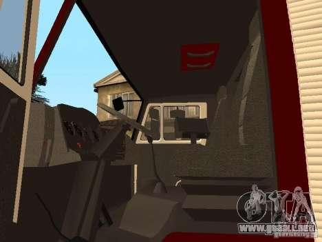 KAMAZ 43253 Rozenbauer para GTA San Andreas vista hacia atrás
