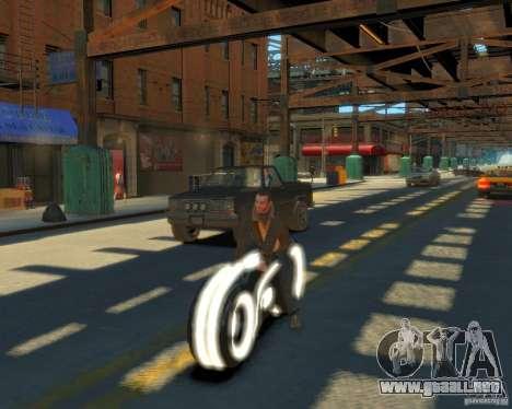 Motocicleta del trono (neón blanco) para GTA 4