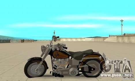 Harley Davidson FLSTF (Fat Boy) v2.0 Skin 3 para GTA San Andreas left