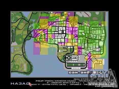 San Fierro and Los Santos Gang Zone para GTA San Andreas tercera pantalla