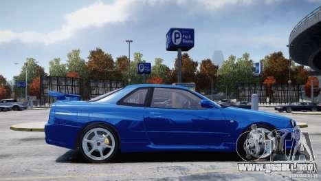 Nissan Skyline GT-R R34 Mspec para GTA 4 visión correcta