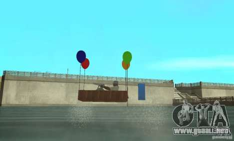Ballooncraft para GTA San Andreas vista posterior izquierda
