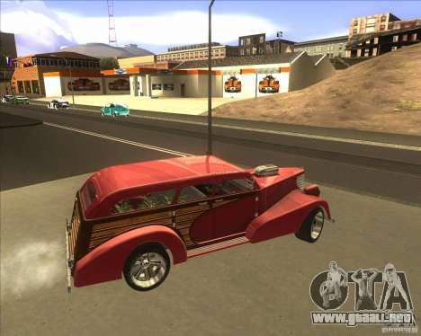 Custom Woody Hot Rod para visión interna GTA San Andreas