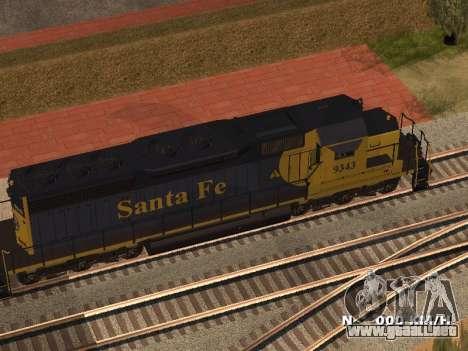 SD 40 UP BN Santa Fe para GTA San Andreas