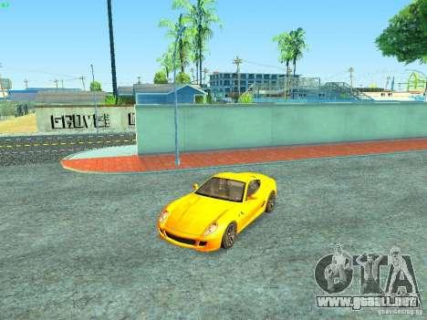 Ferrari 599 GTB para el motor de GTA San Andreas